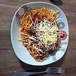 recette Spaghetti bolo spécial mimi