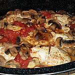 recette Émincé de poulet aux tomates et aux champignons