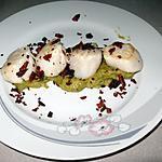 recette Saint-Jacques sur mousse de poireaux