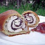 recette Roulade de poulet feuilletée à la tapenade, pancetta & chèvre