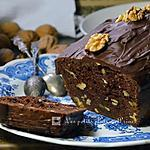 recette Cake chocolat aux noix, sans lactose, à la citrouille