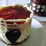 recette Entremets Individuels Rhubarbe-Fraises