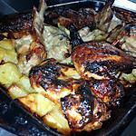 recette Ailes de poulet au pommes de terre rôties a la mayonnaise