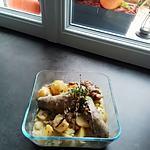 recette Andouillettes de canard mijotées au vin blanc et  pommes de terre au thym