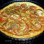 recette tarte salée  à la tomate