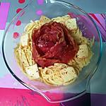 recette Délice de linguines au  maroilles et jambon cru   ..........   Recette de mon amis  Mamyloula