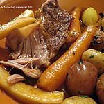 recette Palette de veau braisée aux légumes +
