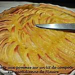 recette Tarte aux pommes sur un lit de compote