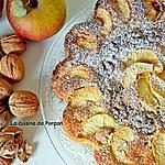 recette Gâteau aux pommes et noix parfumé au pain de singe...