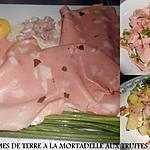 recette SALADE DE POMMES DE TERRE A LA MORTADELLE A LA TRUFFE