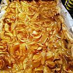recette Tarte  feuilletée XXL à la  compote de pommes vanillée