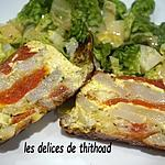 recette terrine de topinambours, mozzarella et tomates