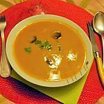 recette Velouté de carottes et persil au chorizo