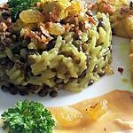 recette Riz aux Lentilles, Oignons et Poulet