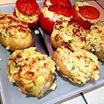 recette Pommes de terre et tomates farcies au jambon