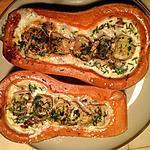 recette butternut farcie lardons et chèvre