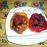 recette Poivrons farcis blancs de volaille/ ratatouille