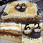 """recette Le poirier à la crème diplomate """" ganache chocolat noir et chantilly- mascarpone à la poire William 's"""
