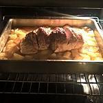 recette Roti de jambon et pdt en cubes