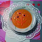 recette Veloutée de carottes de sable  au lait de coco et à la coriande
