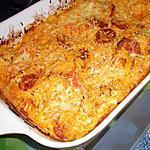 recette Gratin de courge spaghetti au chorizo et chèvre