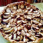 recette tarte fine  aux  pommes et magret de canard  du blog les food  amour