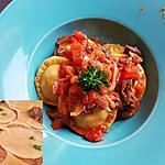 recette Ravioles maison au boeuf-carottes mijoté