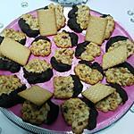 recette Florentin aux biscuits  ..... Thé   &   amandes ... pistaches ... fruits confits