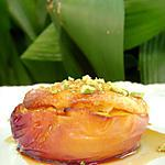 recette Nectarines farcies à la polenta soufflée