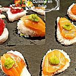 recette Nigiri sushis simples( avec le riz à sushis d'Alain Ducasse )