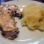 recette Côtes de porc moutarde et purée maison