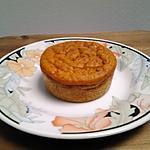 recette Muffins à la purée de potimarron et purée de marrons.  Recette pour  environ 12 muffins.