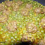 recette Boulettes de viande hache et petits pois