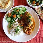 recette Poulet à l'indienne + menu pour six