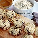 recette Cookies aux flocons d'avoine, beurre de cacahuète et pépites de chocolat
