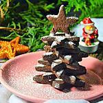 recette Sapin de Noël en sablés chocolat orange