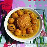 recette Rôti  filet de dinde  aux pommes de terre sauce curry de Madras