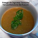 """recette Potage de légumes """"tomatés"""""""