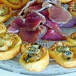 recette Palmier au chèvre et basilic garni de graines de pavot