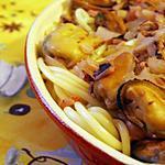 recette Spahettis aux fruits de mer