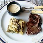 recette steack  sauce romarin