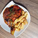 recette Cuisse de poulet sauce poivron