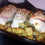 recette Roulés de dinde Orloff et pommes de terres rôtis au four