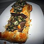 recette Rôti de cerf en croûte accompagné de champignons aux herbes
