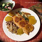 recette Poêlée de filets de truite aux accompagnements exquis +