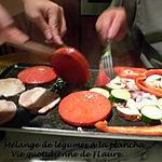 recette Mélange de légumes à la plancha