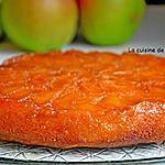 recette Gâteau tatin aux pommes caramélisées parfumé à la poudre de combava
