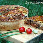 recette Tarte aubergines et courgette