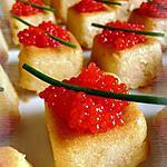 recette Bouchées apéritives au saumon & aux oeufs de lumps