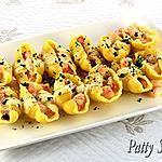 recette Conchiglioni aux Crevettes Sauce Newberg